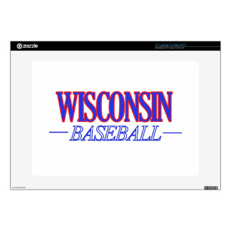 """cool Wisconsin state baseball DESIGNS Decals For 15"""" Laptops"""