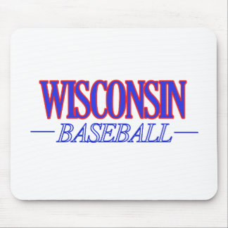 cool Wisconsin state baseball DESIGNS Mouse Pad