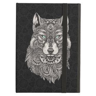 Cool Wolf Head Ornate Illustration iPad Air Cover