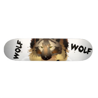 Cool Wolf Skateboard Deck