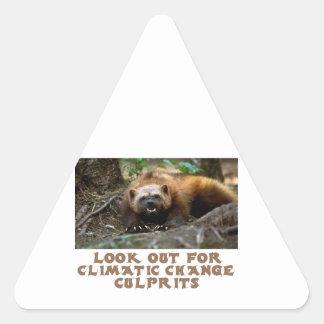 cool Wolverine designs Triangle Sticker