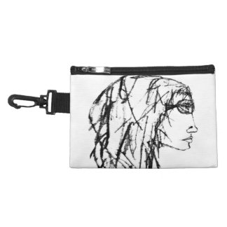 Cool Woman Portrait Drawing Accessory Bag