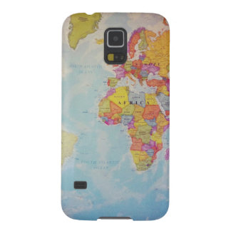Cool World Map Case For Galaxy S5