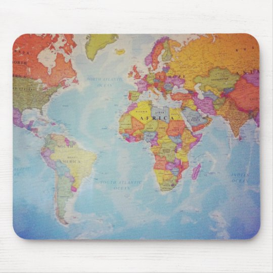 Cool World Map Mouse Pad Zazzle Com