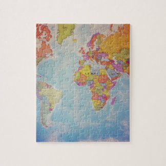 Cool World Map Jigsaw Puzzle