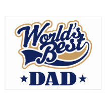 Cool World's Best Dad Gift Postcard