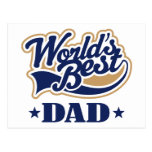 Cool World's Best Dad Gift Postcards
