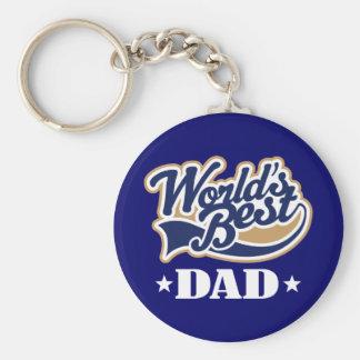 Cool World's Best Dad Keychain Gift