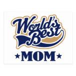 Cool World's Best Mom Gift Postcard