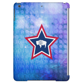 Cool Wyoming Flag Star iPad Air Cover