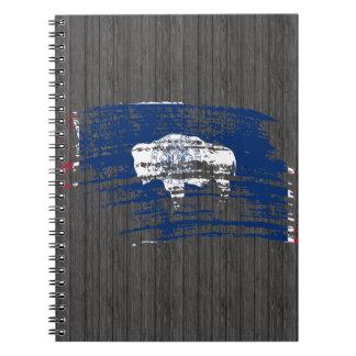 Cool Wyomingite flag design Notebook