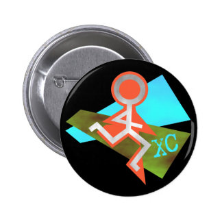 Cool XC Cross Country Running 2 Inch Round Button
