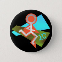Cool XC Cross Country Running Button