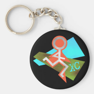 Cool XC Cross Country Running Keychain