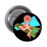 Cool XC Cross Country Running Pinback Buttons