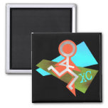 Cool XC Cross Country Running Refrigerator Magnet