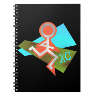 Cool XC Cross Country Running Spiral Notebook