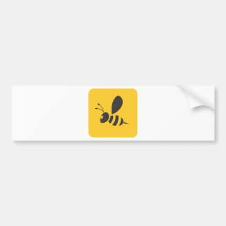 Cool Yellow Bee Icon Logo Shirt Bumper Sticker