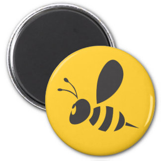 Cool Yellow Bee Icon Logo Shirt Magnet
