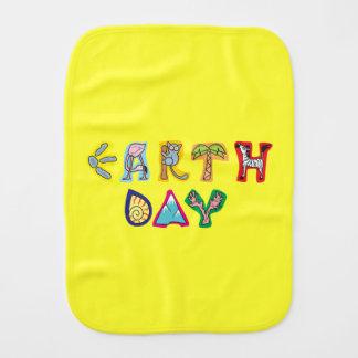 Cool Yellow Earth Day Custom Baby Burp Cloth