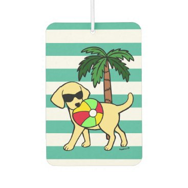Cool Yellow Labrador Sunglasses Car Air Freshener
