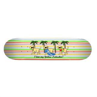 Cool Yellow Labradors Skate Board Deck