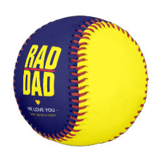 Cool Yellow & Navy RAD DAD gift Baseball