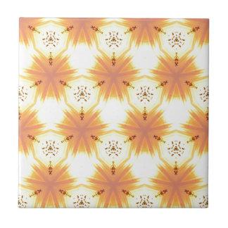 Cool Yellow Orange Bursting Seamless Pattern Tile