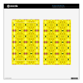 Cool Yellow Red Modern Tribal Pattern Kindle Fire Skins