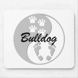 cool yin yang bulldog mouse mats
