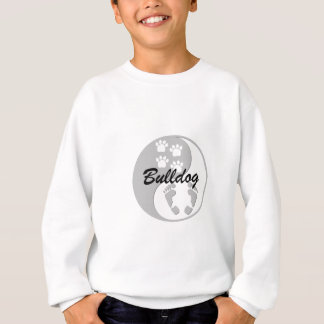 cool yin yang bulldog sweatshirt