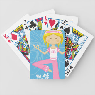 Cool Yoga Girl Deck Of Cards
