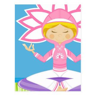 Cool Yoga Girl Postcard