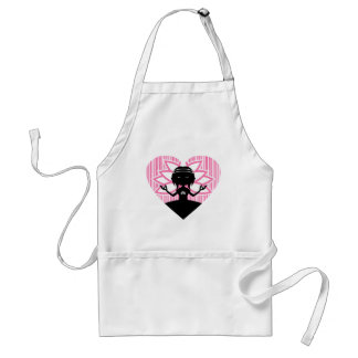 Cool Yoga Girl Silhouette Adult Apron