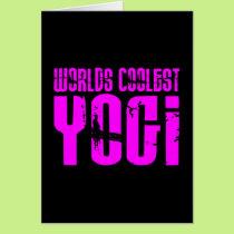 Cool Yoga & Girl Yogis Pink Worlds Coolest Yogi Card