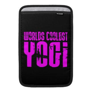 Cool Yoga & Girl Yogis Pink Worlds Coolest Yogi MacBook Air Sleeves
