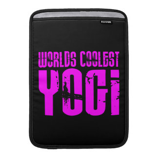 Cool Yoga & Girl Yogis Pink Worlds Coolest Yogi Sleeves For MacBook Air