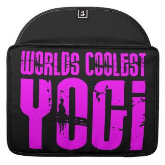 Cool Yoga & Girl Yogis Pink Worlds Coolest Yogi Sleeves For MacBook Pro