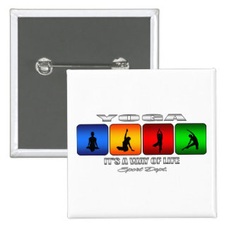Cool Yoga It Is A Way Of Life Pinback Button
