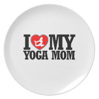 cool yoga  mom designs dinner plate