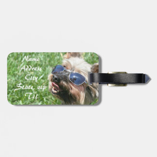 Cool Yorkshire Terrier Bag Tag