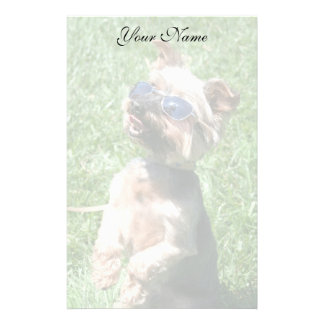 Cool Yorkshire Terrier stationary Stationery Design