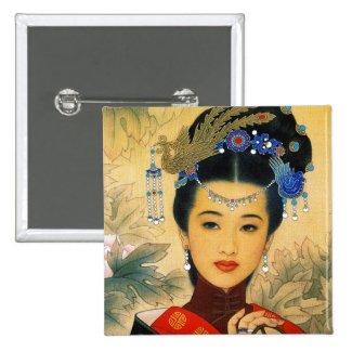 Cool young beautiful chinese prince Guo Jin art Buttons