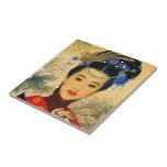 Cool young beautiful chinese prince Guo Jin art Small Square Tile