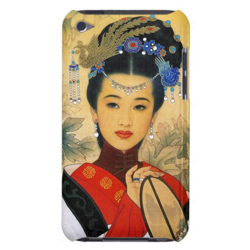 Cool young beautiful chinese princess Guo Jin art iPod Case-Mate Cases