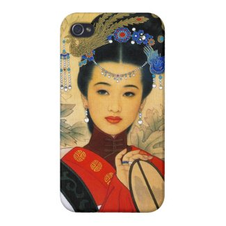Cool young beautiful chinese princess Guo Jin art Covers For iPhone 4