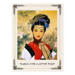Cool young beautiful chinese princess Guo Jin art Postcard