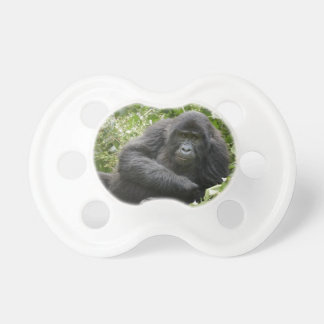 cool young mountain gorilla baby pacifiers