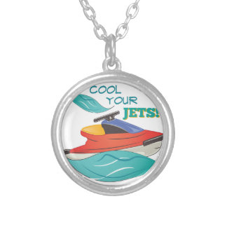 Cool Your Jets Round Pendant Necklace
