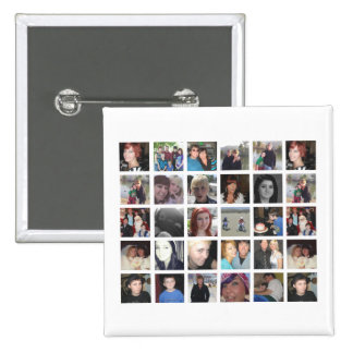 Cool Your Own 30 Picture Instagram Photo 2 Inch Square Button